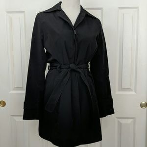 Towne collection by London fog black trench coat